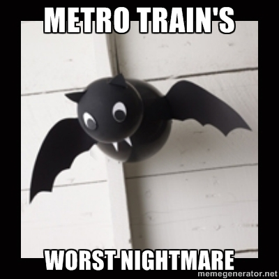 This isn't the bat that killed Metro. But it's still pretty scary.